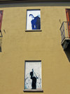 Gianluca Rosso, Senza titolo, 2000, opera murale per MAU Museo Arte Urbana, via Locana 20. Fotografia di Alessandro Vivanti, 2011