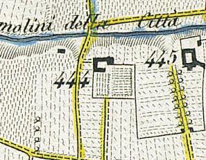 Cascina Gibellino. Antonio Rabbini , Topografia della Città e Territorio di Torino, 1840. © Archivio Storico della Città di Torino