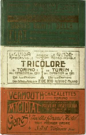 La guida tricolore rimborsabile di Torino e della Esposizione del 1911, copertina