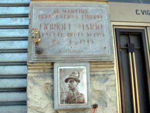 Lapide dedicata a Fiorioli Mario (1919 - 1945)