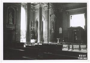Chiesa San Massimo, Via Giuseppe Mazzini angolo Via San Massimo. Effetti prodotti dai bombardamenti dell'incursione aerea del 13 luglio 1943. UPA 3618_9E01-04. © Archivio Storico della Città di Torino/Archivio Storico Vigili del Fuoco