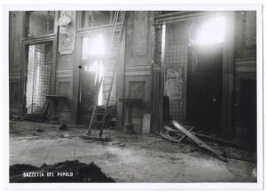 Chiesa di San Gioacchino, Corso Giulio Cesare angolo Via Vittorio Amedeo Cignaroli 3. Effetti prodotti dai bombardamenti dell'incursione aerea dell'8-9 dicembre 1942. UPA 2757D_9C06-10. © Archivio Storico della Città di Torino