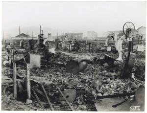 Via Rivalta 61. Stabilimento FIAT - Sezione Materiale Ferroviario. Effetti prodotti dal bombardamento dell'incursione aerea del 20-21 novembre 1942. UPA 2065_9B05-24. © Archivio Storico della Città di Torino