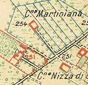 Cascina Martiniana. Istituto Geografico Militare, Pianta di Torino e dintorni, 1911, © Archivio Storico della Città di Torino