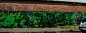 Toast, Encs, Boe, murale senza titolo, 2014, via Alecsandri