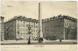 Obelisco alle leggi Siccardi in piazza Savoia. © Archivio Storico della Città di Torino