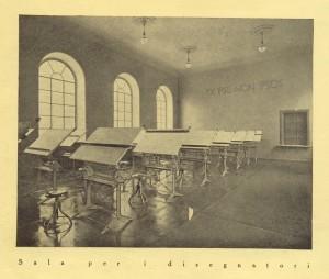 Biblioteca civica Centrale, sala per i disegnatori, 1929. Biblioteca civica Centrale © Biblioteche civiche torinesi