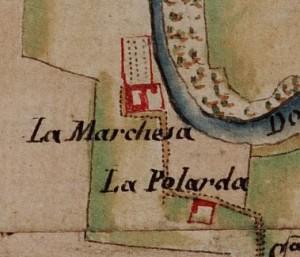 Cascina Marchesa. Carta delle Regie Cacce, 1816. © Archivio di Stato di Torino