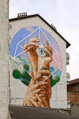 Rosk Loste, murale in memoria di Giovanni Bonaventura, 2018, corsi Belgio/Farini. Fotografia di Roberto Cortese, 2018 © Archivio Storico della Città di Torino