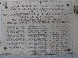 Lapide ai caduti della Fiat Grandi Motori