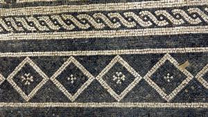 Mosaico proveniente da domus di età romana conservato presso il Museo di Antichità (3). Fotografia di Plinio Martelli, 2010. © Soprintendenza per i Beni Archeologici del Piemonte e del Museo Antichità Egizie.