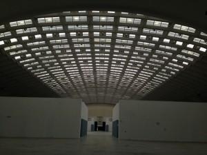 Torino Esposizioni, interno padiglione 2 retrofacciata su Corso Massimo d'Azeglio, 2017.