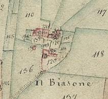 Cascina Biasone. Catasto Gatti, 1820-1830. © Archivio Storico della Città di Torino