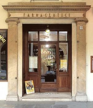 Farmacia degli Stemmi, esterno, Fotografia di Marco Corongi, 2005 ©Politecnico di Torino