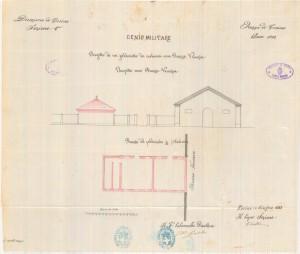 Progetto di un fabbricato da costruirsi verso piazza Venezia, pianta e prospetto, 1883. ASCT, Progetti edilizi. © Archivio Storico della Città