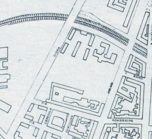 Cascina La Marchesa, già La Florita. Istituto Geografico Militare, Pianta di Torino, 1974, © Archivio Storico della Città di Torino