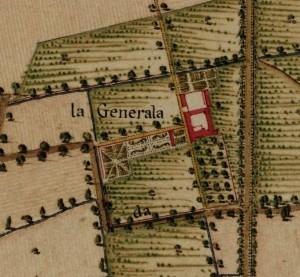 Cascina Generala. Carta Topografica della Caccia, 1760-1766 circa. © Archivio di Stato di Torino