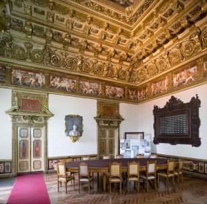 Castello del Valentino, Stanza dei Fiori (da http://castellodelvalentino.polito.it/)