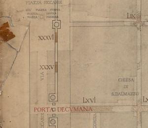 Tratti delle mura della città romana in piazza Savoia