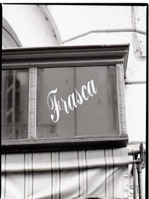 Frasca confetteria pasticceria, Insegna (part.), 1998 © Regione Piemonte