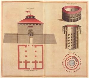 Rilievo del Mastio della cittadella, 1682 (Theatrum Sabaudiae, I).