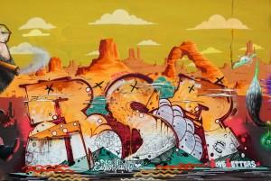 RESER, murale senza titolo, 2018, giardini Firpo, corso Dante. Fotografia di Roberto Cortese, 2018 © Archivio Storico della Città di Torino