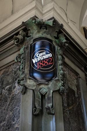 Caffè Vergnano, particolare esterno, 2017 © Archivio Storico della Città di Torino