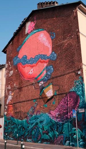 Mrfijodor, murale senza titolo, borgata Tesso