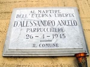Lapide dedicata a D'Alessandro Angelo (1915 - 1945)