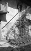 Dettaglio della casa padronale della cascina Juva. Fotografia di Modesto Vigo, 1977.