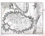 Pianta topografica della città di Torino, con i nomi delle principali isole, 1704