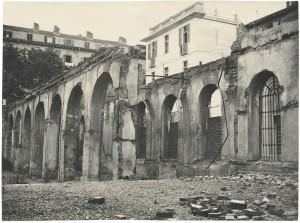 Biblioteca civica Centrale, lato su via della Cittadella, ante 1958. Biblioteca civica Centrale © Biblioteche civiche torinesi