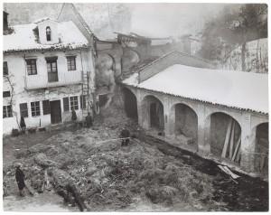 Moncalieri (Torino) – Frazione Testona. Effetti prodotti dai bombardamenti del 13 gennaio 1941. UPA 1121D_9A03-40. © Archivio Storico della Città di Torino