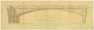 Progetto del Ponte Amedeo IX il Beato da cui si nota l'eleganza della struttura ad arcata unica ribassata.©Archivio Storico Città di Torino.