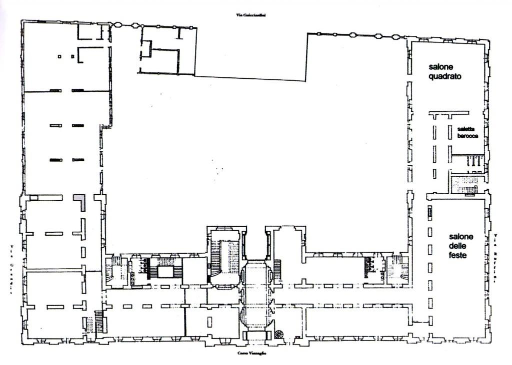 Palazzo pralormo circolo ufficiali di presidio ex scuola for Planimetrie del palazzo mediterraneo
