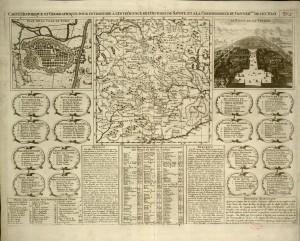 Pianta topografica della città di Torino, 1710 circa