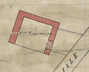 Cascina La Grangia, già Lagrange. Catasto Rabbini, 1866, ©Archivio di Stato di Torino.