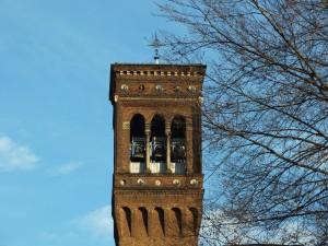 Chiesa di San Gioacchino, dettaglio del campanile. Fotografia di Paola Boccalatte, 2014. © MuseoTorino