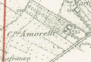 Cascina Amoretti. Torino e dintorni (con indicazione della cinta daziaria), 1909.© Archivio Storico della Città di Torino