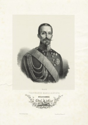 Ferdinando di Savoia, duca di Genova. Litografia dei F.lli Doyen, 1855. © Archivio Storico della Città di Torino.