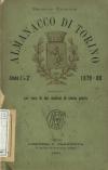 «Almanacco di Torino: compilato per cura di due studiosi di storia patria», A. I-II, 1879-1880, Torino, copertina