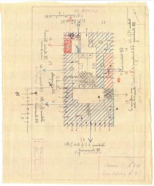 Bombardamenti aerei. Censimento edifici danneggiati o distrutti. ASCT Fondo danni di guerra inv. 208 cart. 4 fasc. 38. © Archivio Storico della Città di Torino