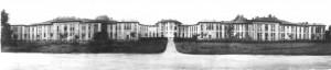 Il Birago di Vische in un'immagine d'archivio. Il fronte verso l'Ospedale Amedeo di Savoia. Archivio Storico Relazioni Esterne ASL1.