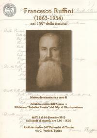Francesco Ruffini (Lessolo, 1863 - Torino, 1934)
