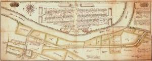 Copia del 1749 della planimetria del complesso redatta da Antonio Maria Lampo, 1729. ASCT, Collezione Simeom. © Archivio Storico della Città di Torino