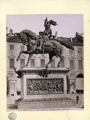 Carlo Marocchetti, Monumento ad Emanuele Filiberto, 1838. © Archivio Storico della Città di Torino