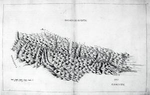 Carlo Morello. Rilievo territoriale della Valle d'Aosta realizzato nel 1622. © Biblioteca Reale di Torino.