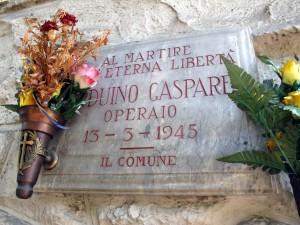 Lapide dedicata a Gaspare Arduino (1901 - 1945)