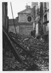 Via Porta Palatina, Chiesa dello Spirito Santo. Effetti prodotti dai bombardamenti dell'incursione aerea del 13 luglio 1943. UPA 3604_9D06-50. © Archivio Storico della Città di Torino/Archivio Storico Vigili del Fuoco