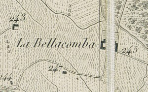Cascina Bellacomba. Antonio Rabbini, Carta topografica dei contorni di Torino, 1878. © Archivio Storico della Città di Torino